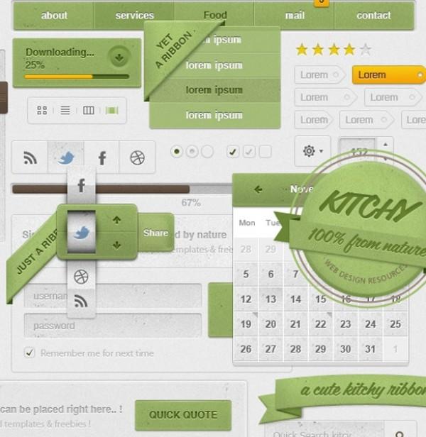 web unique ui set ui kit ui elements ui tooltip toggles tags stylish sticker star rating social icons sliders set search field ribbon restaurant quote quality pack original new navigation nature modern login kitchy kitchen kit interface image slider hi-res HD green fresh free download free elements dropdown download detailed design creative comment form clean calendar buttons badge