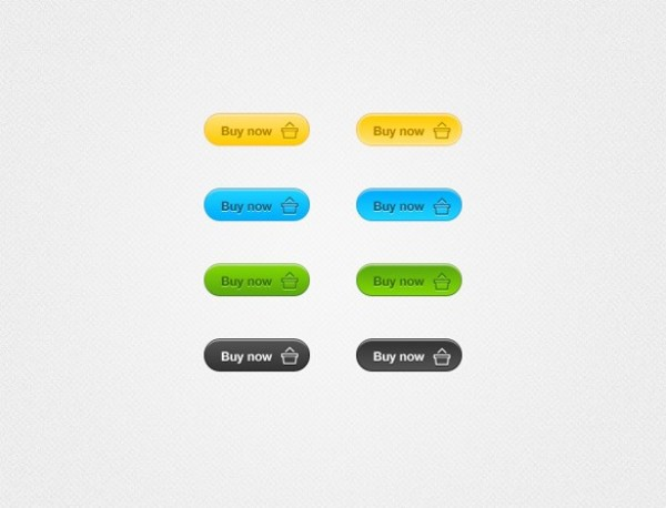 Crisp 4 Colors Buy Now Button Set PSD - WeLoveSoLo