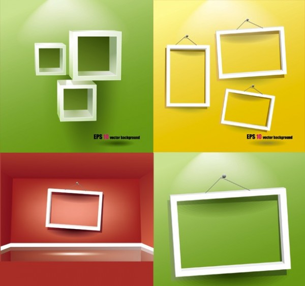 97475986d70 wooden frame white frame web vector unique ui elements stylish showcase set  quality picture frame original
