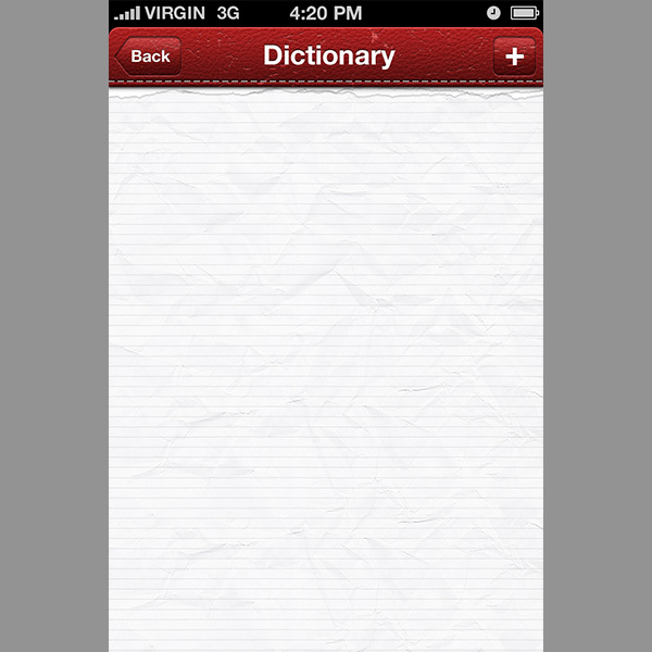 ui elements ui paper notes lined iphone app iphone grunge free download free dictionary