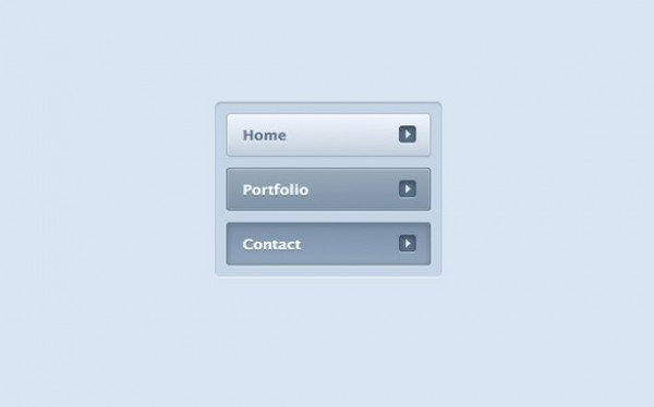 Clean Blue Inset Side Navigation Menu CSS - WeLoveSoLo