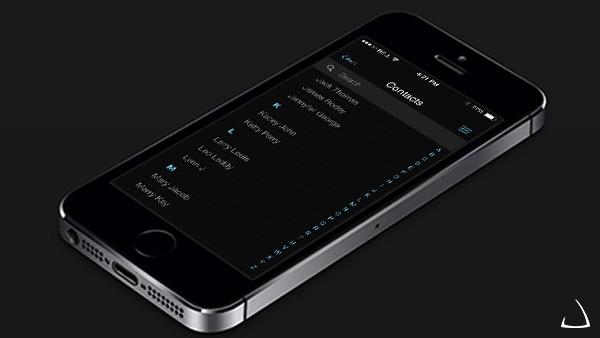 ui elements ui remake ios 7 contacts app ios 7 contacts free download free dark contacts app concept black app