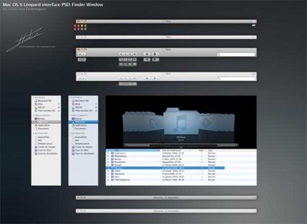 Mac OS X Leopard User Interface PSD - WeLoveSoLo
