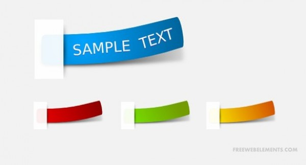 yellow web vector unique ui elements taped SVG stylish strips stickers set red quality PDF original new interface illustrator high quality hi-res HD green graphic fresh free download free elements download detailed design curled creative blue
