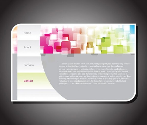 webpage web vertical vector unique ui elements template stylish quality original new navigation menu interface illustrator high quality hi-res header HD graphic fresh free download free elements download detailed design creative abstract