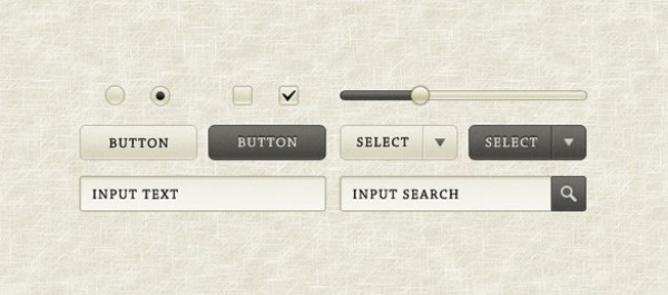 web unique ultimate ui elements ui stylish simple sepia radio quality original new modern kit interface high detail hi-res HD gui grey gray fresh free download free form elements download detailed design creative clean buttons