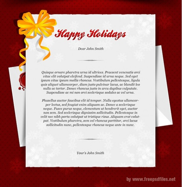 Happy Holidays Greeting Card Template PSD - WeLoveSoLo