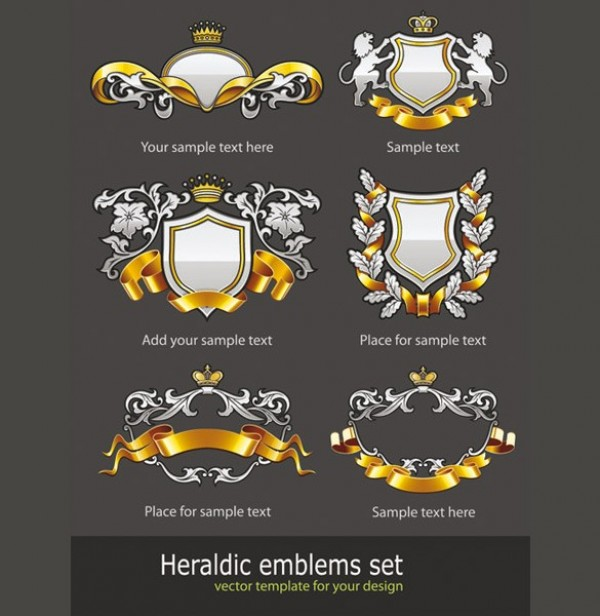white web vector unique ui elements stylish ribbon quality original new lions interface illustrator high quality hi-res heraldry heraldic HD graphic gold fresh free download free floral elements download detailed design crowns creative banner badge