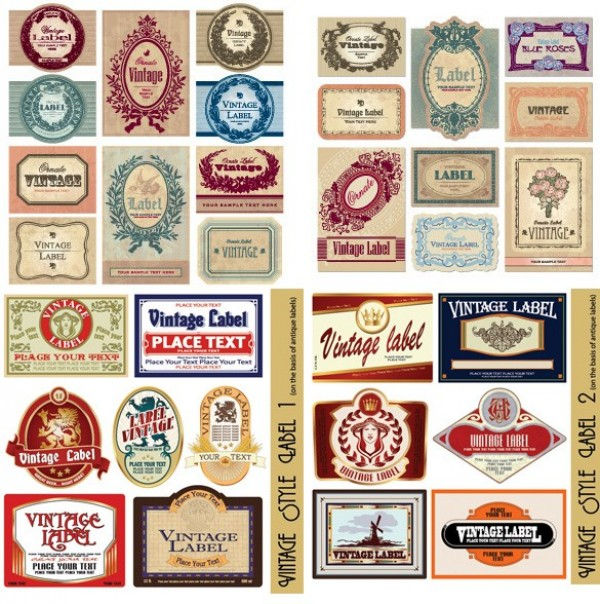web vintage vector unique ui elements stylish retro quality original new labels label interface illustrator high quality hi-res HD graphic fresh free download free elements download detailed design creative