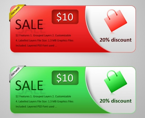 Sales Banner Psd Sales Banners Set in Psd