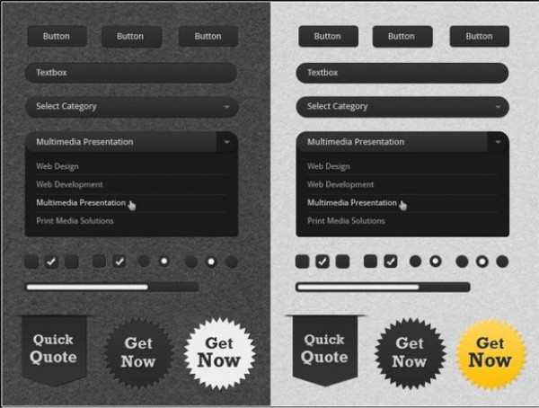 Clean UI Toolkit Light/Dark Skin PSD - WeLoveSoLo
