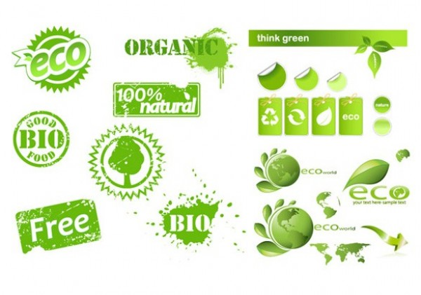 Organic eco theme vector elements welovesolo for Earth elements organics