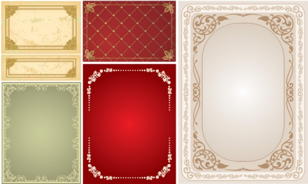 6 Victorian Lace Frame Vector Borders - WeLoveSoLo