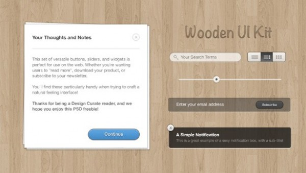 wooden wood web ui web view unique ui set ui kit ui elements ui Subscribe stylish stacked notes signup set search quality psd popup original notification notes notepad new modern light interface hi-res HD fresh free download free email elements download detailed design creative clean buttons