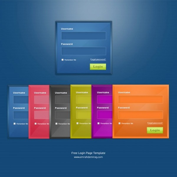 6 Glossy Web Ui Login Forms Psd Welovesolo