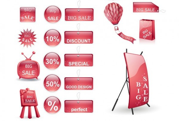 web vector unique ui elements tags stylish stickers signs shopping bags retro tv red stickers red quality original new interface illustrator high quality hi-res HD graphic fresh free download free elements download display detailed design creative air balloon advertising