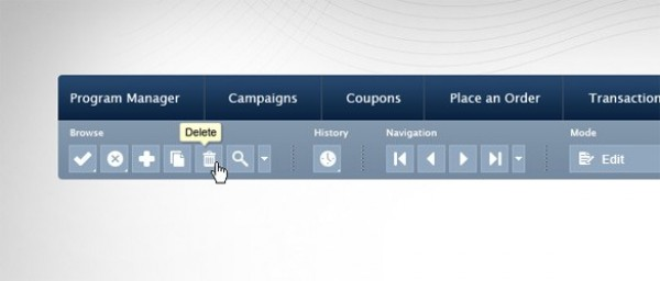 Clean Blue GUI Toolbar & Menu Template PSD - WeLoveSoLo