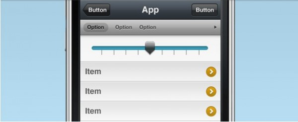 web unique ui elements ui stylish slider selector quality psd original new modern iphone app iphone interface hi-res HD fresh free download free elements download detailed design creative clean buttons application app