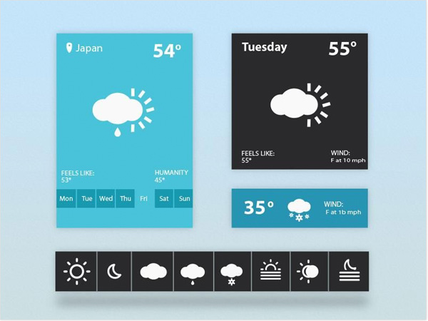 windows 8 weather widget weather icons weather ui elements metro interface icons free download free forecast download