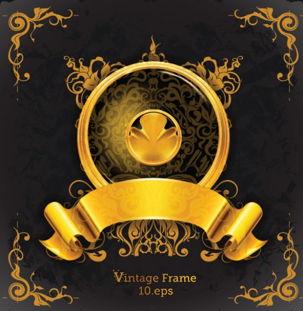 web vintage Vectors vector graphic vector unique ultimate royalty quality Photoshop pack ornate original new modern illustrator illustration high quality golden gold fresh free vectors free download free emblem download design creative banner AI
