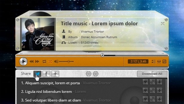 web unique ui elements ui track stylish social media buttons social retro quality psd playlist player playback original new music modern jukebox interface hi-res HD fresh free download free elements download detailed design creative clean buttons audio player audio album