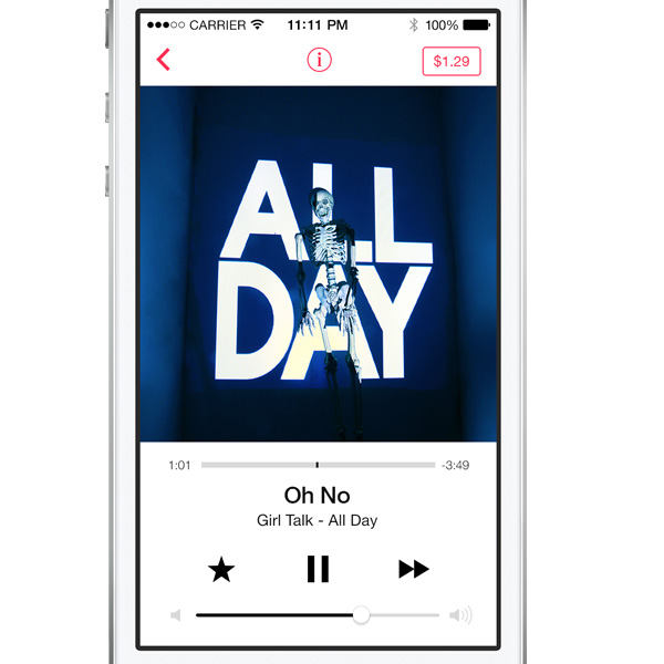 iOS7 iTunes Player App Interface PSD - WeLoveSoLo
