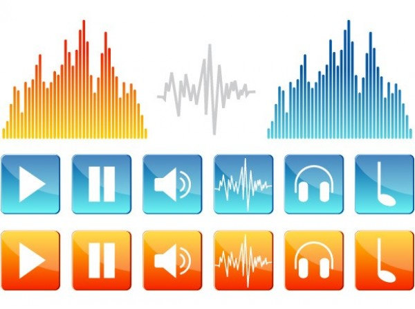 web vector unique ui elements stylish sound quality player original new musical note music player interface illustrator icons high quality hi-res headphones HD graphic fresh free download free equalizer elements download detailed design creative buttons audio player