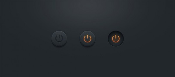 web unique ui elements ui stylish states set round quality psd pressed power buttons power original on off buttons normal new modern interface hover hi-res HD fresh free download free elements download detailed design dark creative clean active