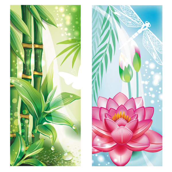 web vertical nature banner vertical vector unique ui elements stylish quality original new nature lotus flower lotus interface illustrator high quality hi-res HD graphic garden fresh free download free forest floral EPS elements dragonfly download detailed design creative banner bamboo Asian