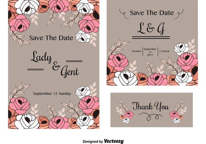 wedding vintage vector template stationery shabby chic save the date roses romantic retro pretty paper love layout label invitation greeting free flowers floral elements design day chic celebration card background