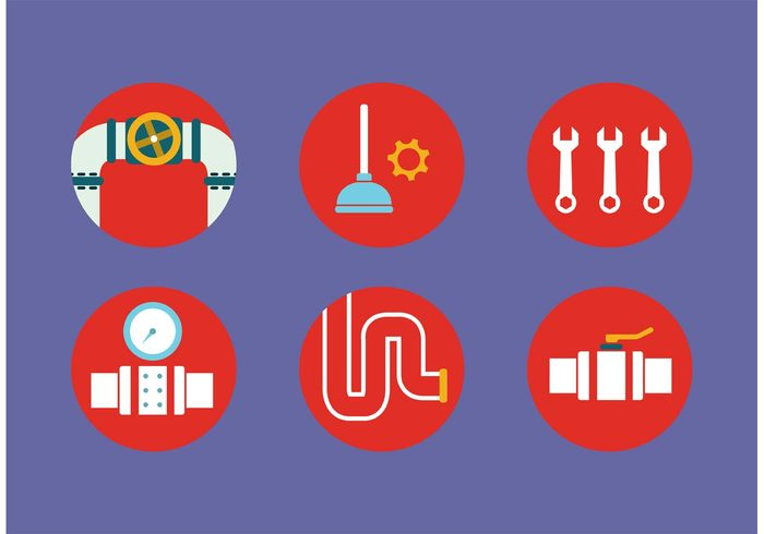 white water vector valve tool symbol steel sewer pipe sewer sewage pressure Plumbing Plumber pipes pipeline pipe metal isolated illustration icons icon gear flat design flat equipment Engineering Drain connection clean background