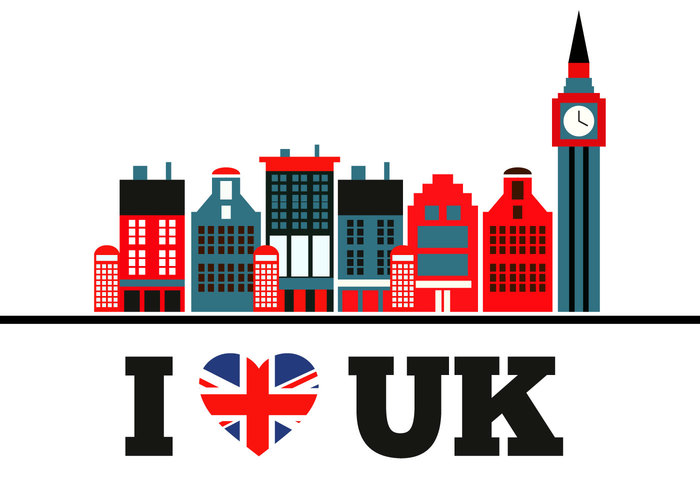 white United Kingdom Union Jack support string red patriotic ornament object love i love uk heart shape heart graphic design decoration concept background