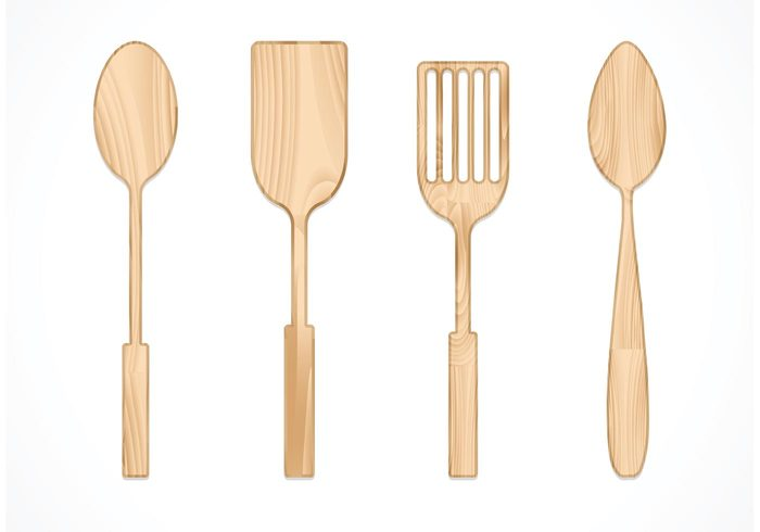 wooden utensil wooden spoon wooden wood spoons spoon object natural kitchenware kitchen isolated illustration food equipment cutlery Culinary cooking cook brown background