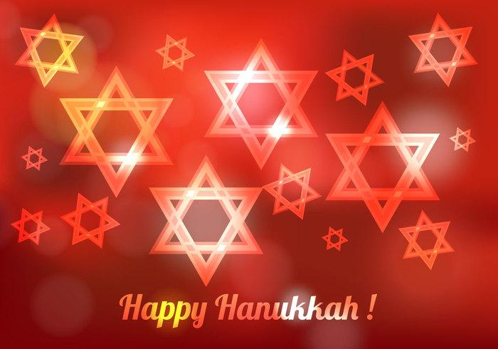 traditional symbol star spirituality red light jewish israel holiday Hebrew happy hanukkah Hanukkah background Hanukkah hanuka hannukah greeting festive faith decoration celebration card bright blurred