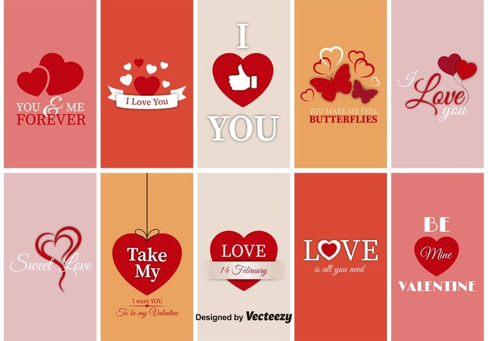 vintage vector valentine typography template symbol sign romantic romance ribbon retro red ornament love label illustration icon holiday heart happy greeting gift decoration day card banner background