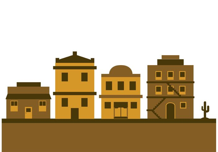 wooden wild western west town street stagecoach silhouette Saloon Outdoor old western town old west town old landscape isolated house Frontier cowboy country city cartoon buildings building background