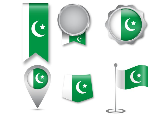 world white waving vector travel tourism territory template symbolic symbol state star sign shiny shape Pride political Patriotism patriotic Patriot pakistani pakistan flag Pakistan official object nationality national nation isolated insignia Independence illustration identity icon happy green government geography flyer flag ensign emblem design day crescent creative country concept color banner badge background Asian asia abstract
