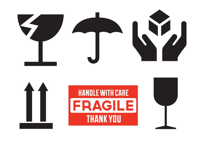 white up transportation transport symbol sign shipping packaging package pack logistics label illustration icon handle with care sticker handle with care handle glass fragile delivery cargo care cardboard box background