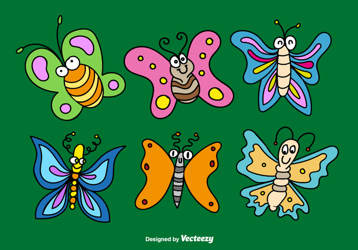wing sweet spring Smile set pretty nature insect happy gesture funny friendly flying fly flower cute comic colorful character cartoon butterfly cartoon butterflies cartoon butterfly bug beetle beauty animal