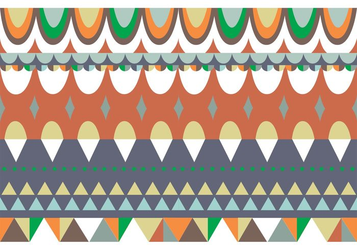 vector shapes traditional seamless background seamless round shapes retro pattern ornamental background native geometric shapes geometric pattern geometric fabric decoration fabric decoration background decoration background