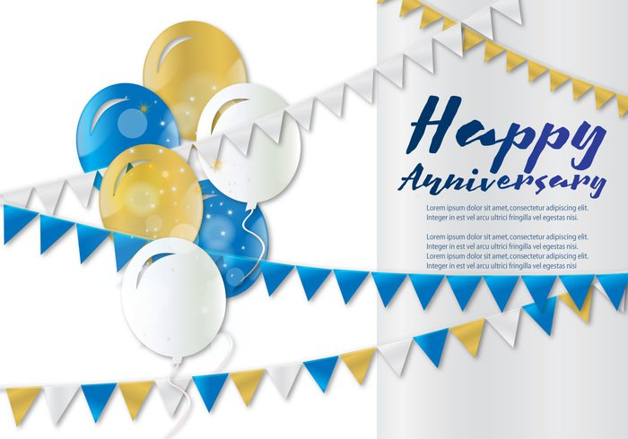youth yellow and white yellow with dummy text to place the necessary information wish white vector surprise streamer realistic poster Pleasure paper modern luxury lifestyle illustration holiday Happy birthday card with balloons three colors happiness greeting gift fun festive fashion event elegant design day date cover confetti colorful children celebration card blue birth balloons background anniversary Aniversario abstract