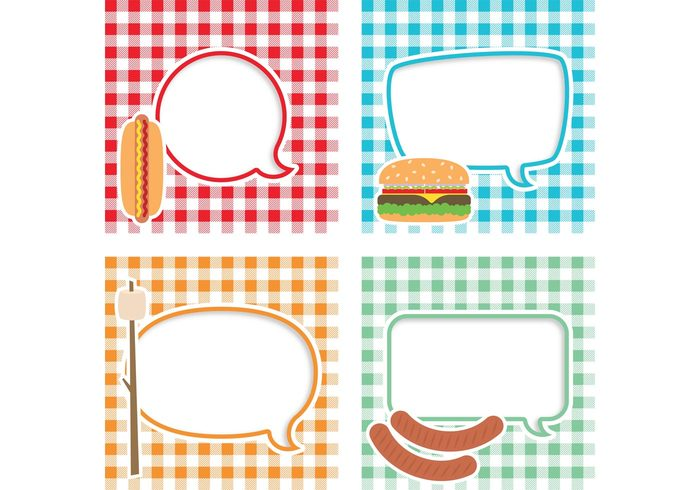 Textile text tablecloth table speech bubble speech retro restaurant plaid picnic background picnic menu kitchen gingham tablecloth gingham food fabric dinner cooking cook cloth camp food breakfast blanket basket announcement