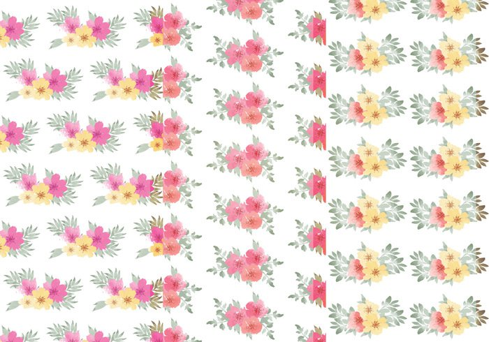 watercolor patterns watercolor set seamless patterns seamless pattern plant Patterns pattern set pattern collection pattern nature leaf pattern leaf flowers flower floral patterns floral pattern floral background