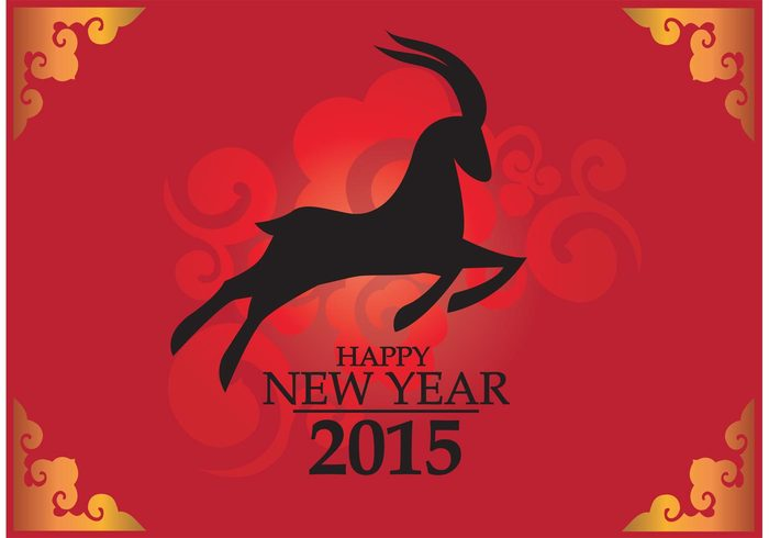 year of the goat year red lunar new year lunar greeting goat Chinese New Year chinese china new year celebrate card background Asian 2015