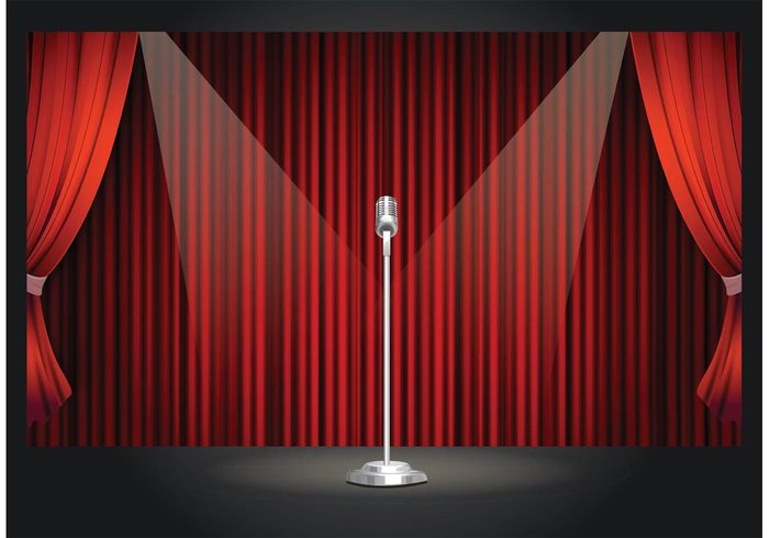 vector Theatrical theater style Stand up stage rope revival retro red Premiere performance pattern Opera open luxury light image illustration gold eps10 design decoration decor curtain comedian classical classic Backgrounds art