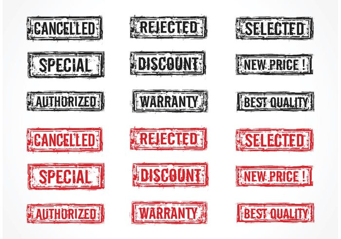 warranty vector symbol stamp special sign selected rubber rejected red old new price illustration grunge discount design cancelled black Best Quality background Authorized