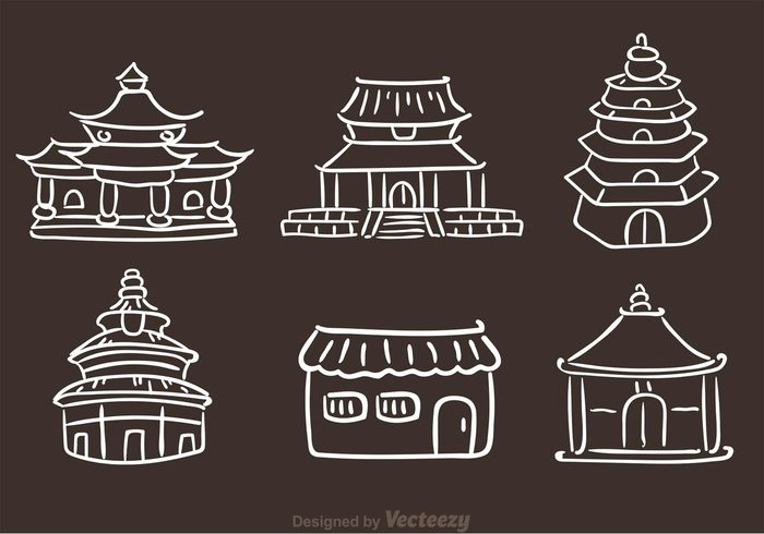 window traditional tower temple landmark king hand drawn chinese temple gate far east emperor culture chinese temples chinese temple chinese china building Asian arts and culture