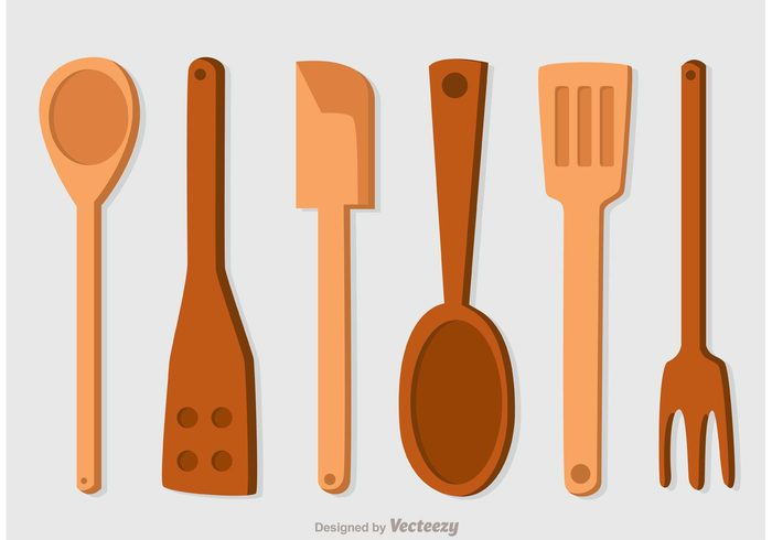 wooden spoons wooden spoon wooden wood utensil Studio spoon object knife kitchenware kitchen isolated home fork Domestic cutlery cooking cook