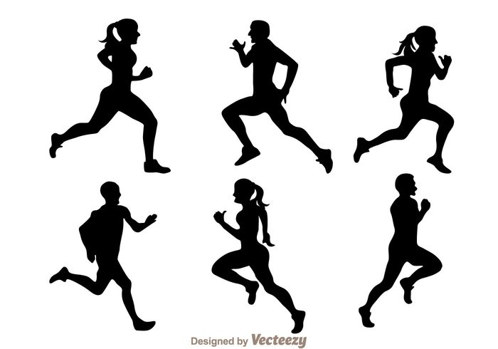 woman sport silhouette running silhouettes running silhouette running run people man male female black athlete activity