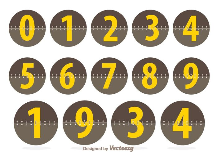 time shape score panel number counters number counter number font flip display counter clock circle board analog